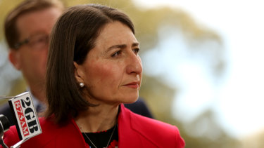 Accentuate the positive: Premier Berejiklian can take comfort from the knowledge that while Victoria has shifted to the left, NSW has moved to the right.