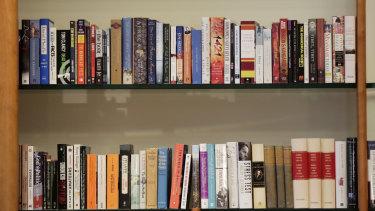 Prime Minister Scott Morrison's bookshelf.