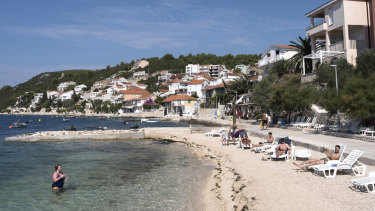 A beach in Komarna, Croatia.