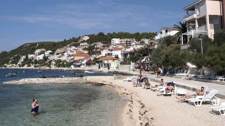 A beach in Komarna, Croatia.