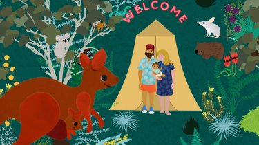 Beci Orpin gives traditional Christmas scenes a modern Australian twist.