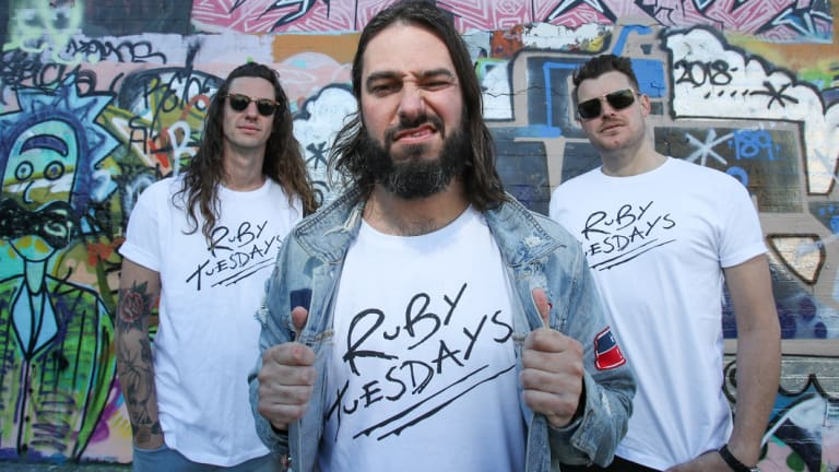 Ruby Tuesdays bandmates Mate Jones, Shaun Snider and Paul Keys are awaiting a response from overseas lawyers.