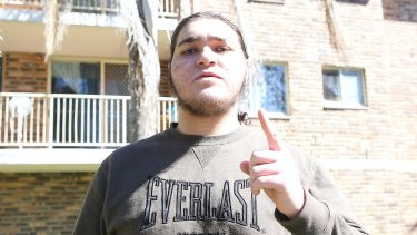 Raban Alou, pictured in 2014 giving the IS salute, has been sentenced to 44 years in jail.
