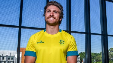Setback: Australian men's sevens captain Lewis Holland will take no part in the Commonwealth Games next month.