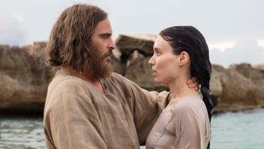 Joaquin Phoenix as Jesus and Rooney Mara as Mary Magdalene.