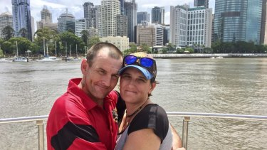 Kylie Rinkin and Allan Holloway at Kangaroo Point.  Living on the streets, but with million-dollar views.