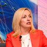 Christine Holgate speaking at Australia Post's Cross Border Ecommerce Expo in Melbourne on Thursday.