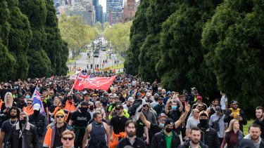 Protesters marched on the city for a third day.
