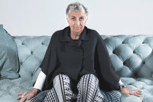 Paola Navone on a Chester Moon sofa.