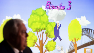 Clive Palmer launched a political video game bearing his namesake in Sydney on Monday.