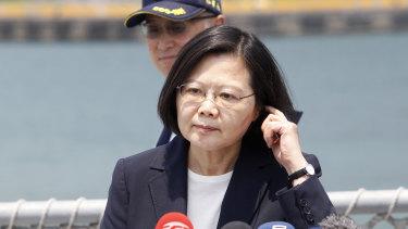 Targeted: Taiwanese President Tsai Ing-wen.