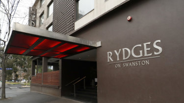 Lax hygiene at Rydges on Swanston in Carlton has been blamed for infections among security staff and their contacts.