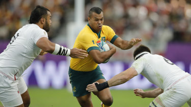 Kurtley Beale in action at last year's World Cup in Japan against England.