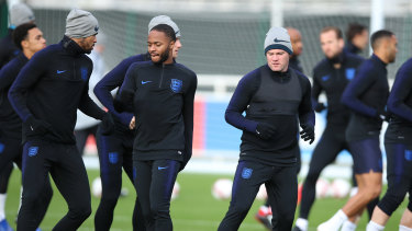 Southgate says Rooney has been looking sharp in training.