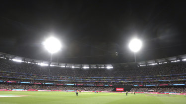 Crowded house: Fans packed the MCG to deliver the highest-ever attendance record for a women's cricket match.