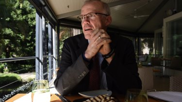 Bill McKibben, a leading American environmentalist, sits down for a lunchtime chat in Sydney's Royal Botanic Garden.