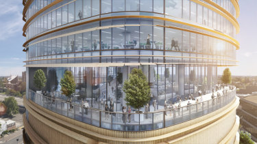 GPT's proposed 32 Smith Street,Parramatta tower designed by architecture firm Fender Katsalidis.