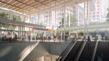 The planned new Roma Street Cross River Rail station.