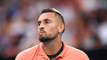 Kyrgios appeared home and hosed in the third set.