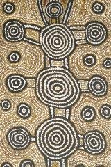 Tingarri Dreaming by the Aboriginal artist Warlimpirrnga Tjapaltjarri.
