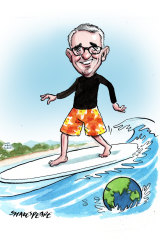 Gerard Rennick hits the surf.