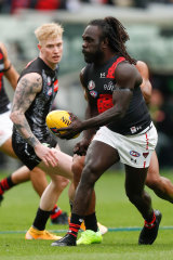 Anthony McDonald-Tipungwuti finished with a telling five-goal haul for the Bombers.