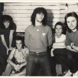 Cold Chisel in 1978 with Ian Moss (left), Don Walker, Jimmy Barnes, Steve Prestwich and Phil Small.