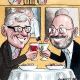 Arthur Sinodinos and Bruce McWilliam