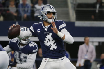 Cowboys quarterback Dak Prescott, whose NFL side was again named the world's richest sporting team on Friday.