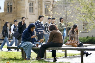 The University of Melbourne will slash 450 jobs in response to a loss of international student revenue.