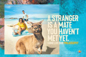 Tourism Australia is trying to capture the Australian way of life in its new campaign.