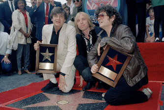 Pete, left, and Don Everly were joined by Tom Petty when they got a star on the Hollywood Walk of Fame in 1986.