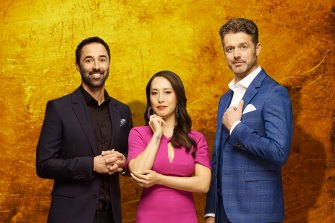 No sharing: New judges Andy Allen, Melissa Leong and Jock Zonfrillo will have to taste separately on MasterChef.