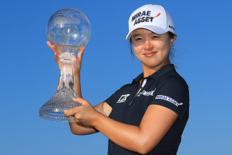 Sei Young Kim delivered with an ice-cold putt from 25 feet to win the tournament - and the cheque.