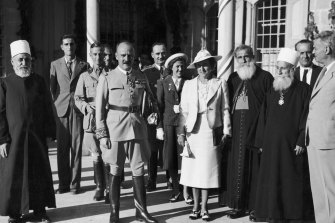 The French high commissioner in Lebanon with Druze and Maronite religious leaders, 1939.