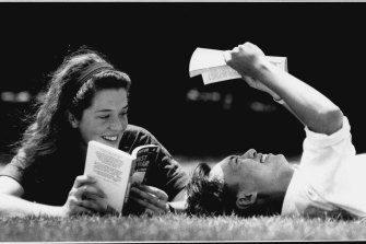 The top rankers: Katherine and Arthur relax after getting their HSC results in January 1991.