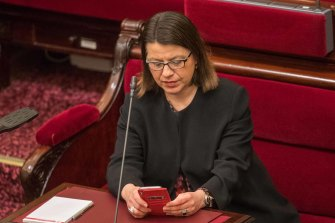 Health Minister Jenny Mikakos in Parliament on Tuesday.