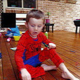 The photos, taken by one of William's foster carers, were taken the morning he disappeared from the Mid North Coast.