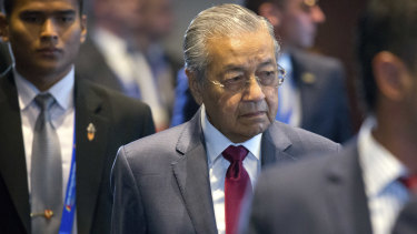 Malaysia's Prime Minister Mahathir Mohamad. The Malaysian government wants the raw material to be treated and rendered harmless from radioactivity before it reaches Malaysian shores.