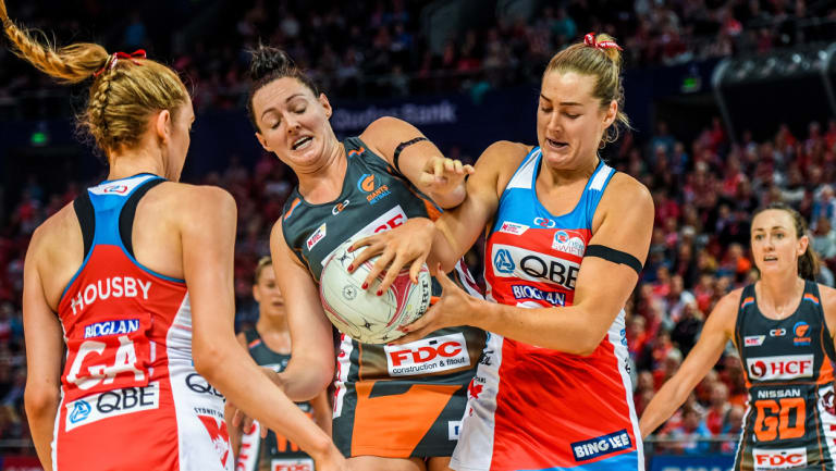 Super rivalry: The Swifts and the Giants will go head-to-head in Sydney on Sunday.