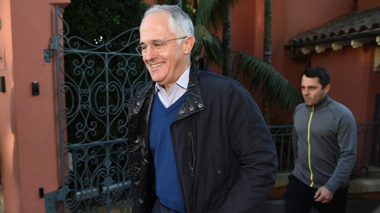 Former prime minister Malcolm Turnbull with son Alex.