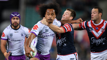 Combatants: Luke Keary (right) has been cleared to play in the NRL grand final after tussling with Felise Kaufusi.