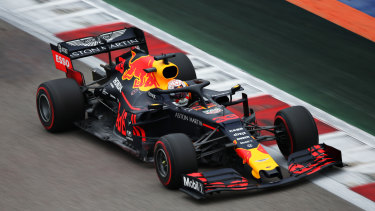 Max Verstappen was fastest in his Red Bull.
