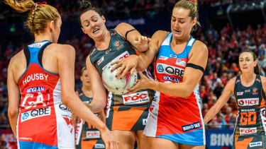 Super rivalry: The Swifts and the Giants come face to face in the 2019 opener.