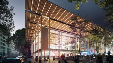 New Cross River Rail design images. The new Roma Street station will be built where the existing Transit Centre stands.