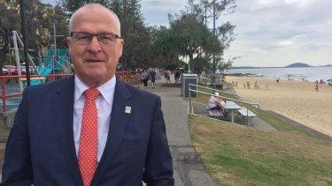 Sunshine Coast Mayor Mark Jamieson at Mooloolaba