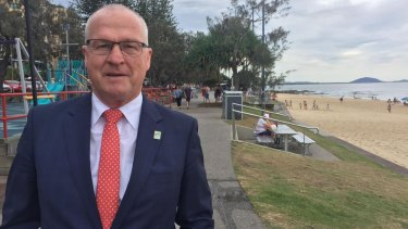 Sunshine Coast Mayor Mark Jamieson at Mooloolaba