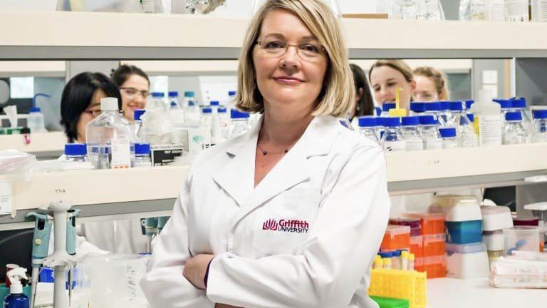 Griffith University's Professor Jennifer Martin is using a 'nature bank' to disarm bacteria.