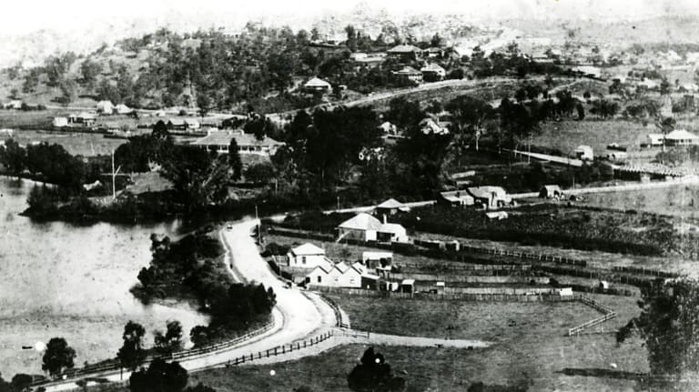This image of Brisbane in circa 1882 gives an indication of the settlement around what became Kingsford Smith Drive.