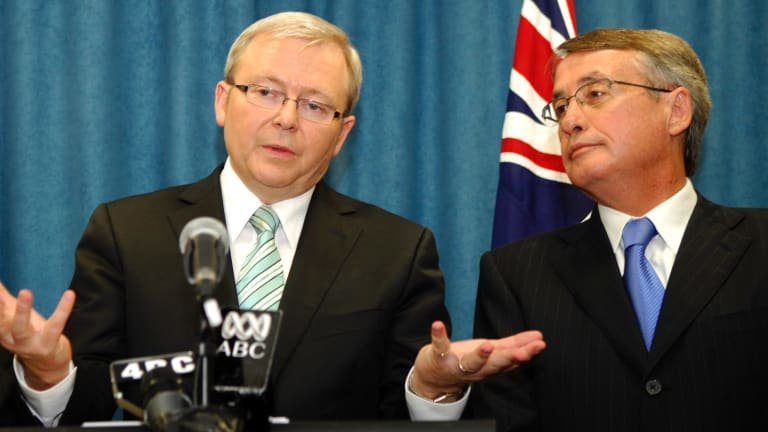 Wayne Swan, Kevin Rudd says, was out of his depth in Treasury and failed to improve.